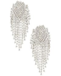 Shashi Royal Queen Earring - Metallic