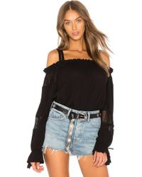 Band Of Gypsies - Long Sleeved Cold Shoulder Top - Lyst