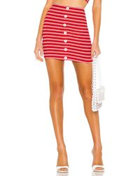 Privacy Please Pacifico Mini Skirt - Rot