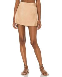 Frankie's Bikinis Jasper Silk Skirt - Metallic