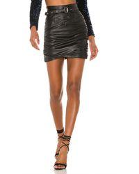 Camila Coelho Cami Leather Skirt - Schwarz