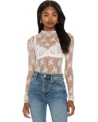 Free People Lady Lux Layering Top - Weiß
