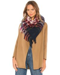 Hat Attack Bright Plaid Scarf - Rot