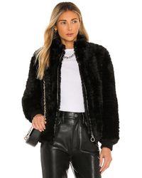 Heartloom Lima Faux Fur Jacket - Schwarz