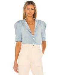 FRAME Charlie Short Sleeve Shirt - Blau