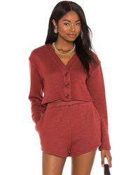 Lovers + Friends Darby Cardigan - Red