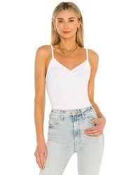 Bobi Modal Spandex Rib Bodysuit - White