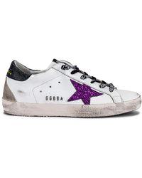 Golden Goose Deluxe Brand Кроссовки Superstar В Цвете White Purple & Black - Белый