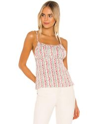 Free People Donna Printed Cami - Weiß