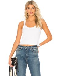 David Lerner - Cropped Aiden Tank In White - Lyst