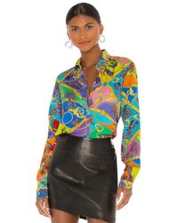 Versace Jeans Couture Paisley ブラウス - マルチカラー