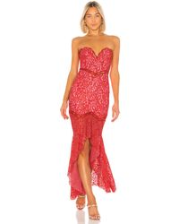 Lovers + Friends Keva Gown - Rot