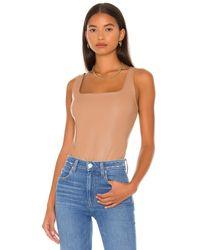 Cami NYC April Vegan Leather Bodysuit - Schwarz