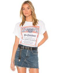 Junk Food Budweiser Label Tee - White
