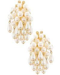 Lele Sadoughi Pearl Cluster Earrings - White