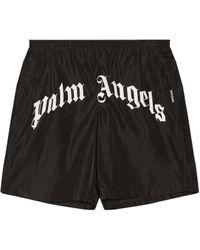 Palm Angels Шорты В Цвете Black & White - Черный