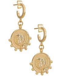Natalie B. Jewelry フープイヤリング - メタリック