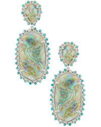 Kendra Scott - Серьги Parsons В Цвете Bright Silver Iridescent Abalone - Lyst