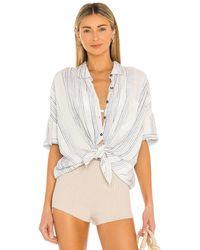 Splendid - Pier Stripe Short Sleeve Top - Lyst