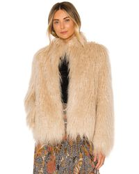 House of Harlow 1960 - X Revolve Solaire Faux Fur Jacket - Lyst