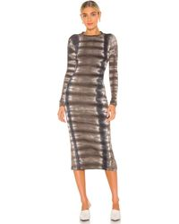 Young Fabulous & Broke Dax Midi Dress - Grey