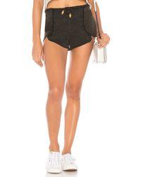 Chaser Scallop Drawstring Shorts - Black