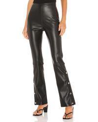 Line & Dot Kourtney Vegan Leather Pant - Black