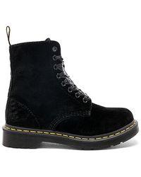 Dr. Martens 1460 Pascal Velvet Mid Boots - Black
