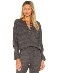 Free People Jersey around the clock - Gris