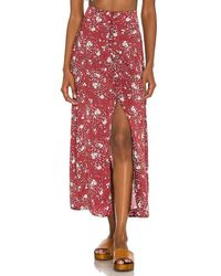Free People Button Down Sammy Skirt - Red