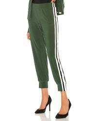 Norma Kamali Side Stripe パンツ - グリーン