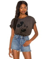 Chaser T-SHIRT MICKEY MOUSE - Noir