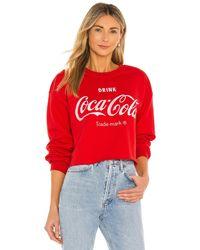 Junk Food Coca Cola Cropped Fleece - Rot