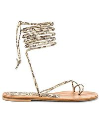 Cornetti Arutas Lace Up Sandal - Natural
