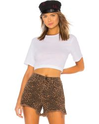 Baja East - Thriving Baby Doll Crop Tee - Lyst