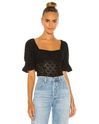 Free People Spring Fling トップ - ブラック