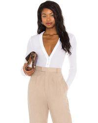 L'academie Henley Bodysuit - White