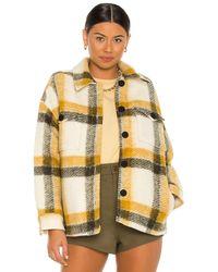 AllSaints Куртка Fenix В Цвете Ecru White & Mustard. Размер 0 (также В 00, 10, 2, 4). - Желтый