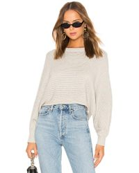 Line & Dot - Iris Cropped Sweater In Gray - Lyst