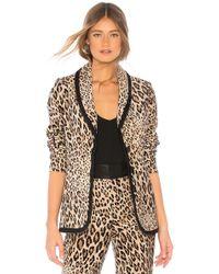 FRAME - Fitted Velvet Jacket In Tan - Lyst