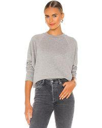 Marissa Webb So Uptight Loop Back Raglan Sweatshirt - Grey