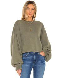 FRAME - Easy Shirttail Sweatshirt - Lyst