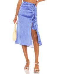 Song of Style Delta Midi Skirt - Blue