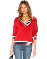 Rebecca Minkoff - Kristine Stripe Sweatshirt In Red - Lyst