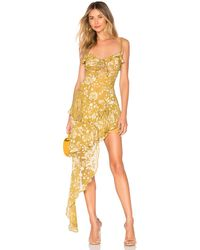 For Love & Lemons Vestido cosmo - Amarillo