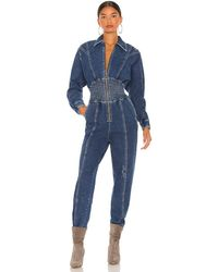 retroféte Savannah Jumpsuit - Blue