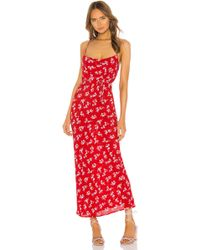 Flynn Skye Jackie Slip Dress - Red