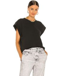 Rag & Bone Ryder Muscle Jersey Tank Relaxed Fit Top - White