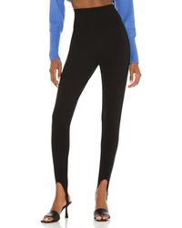 Line & Dot Jules Knit Stirrup Legging - Black
