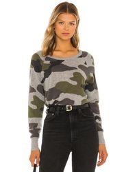 White + Warren Cashmere Camo Intarsia Sweatshirt - Multicolour